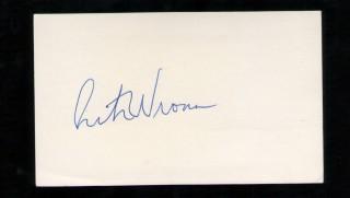 rick wrona autograph